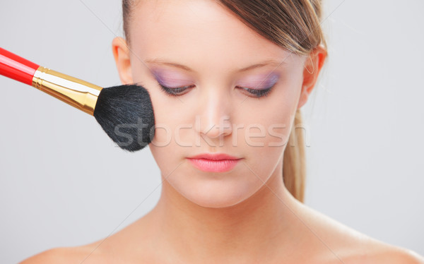 Applying professional make up Stock photo © stokkete