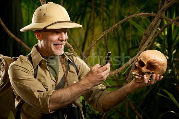 Souvenir photograph in the jungle Stock photo © stokkete