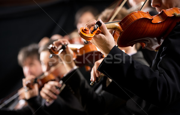 Stock photo: Orchestra first violin section