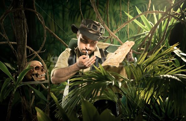 Explorer lost in jungle Stock photo © stokkete