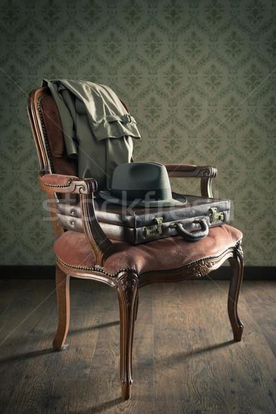 Old timey businessman Stock photo © stokkete