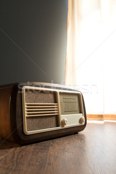 Vintage radio next to the window Stock photo © stokkete