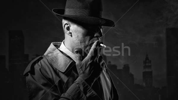 Man smoking a cigarette Stock photo © stokkete