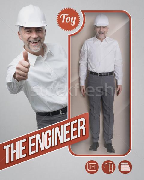 Inżynier lalek architekta zobaczyć opakowań uśmiechnięty Zdjęcia stock © stokkete
