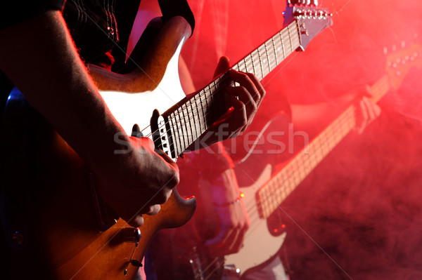Rocha músicos jogar viver concerto música Foto stock © stokkete