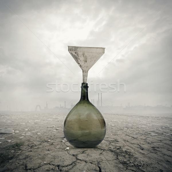 Globális felmelegedés környezeti kár tájkép szennyezés por Stock fotó © stokkete
