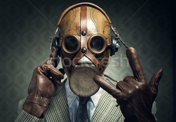 Gas mask rock Stock photo © stokkete