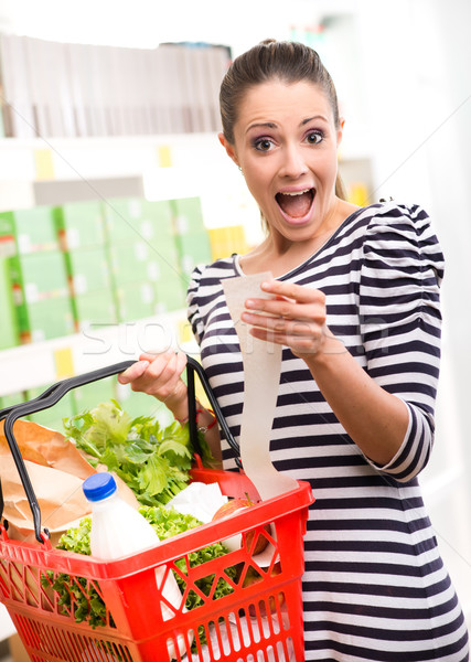 Shocking prices at supermarket Stock photo © stokkete