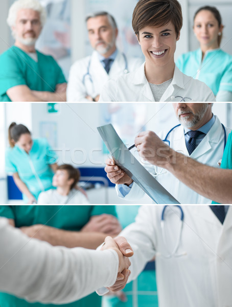 Healthcare professionals banners set Stock photo © stokkete