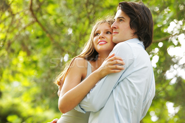 a romantic couple in the park Stock photo © stokkete