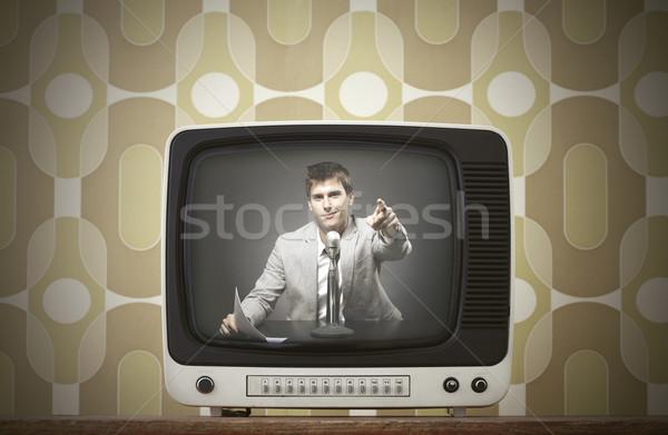vintage tv Stock photo © stokkete