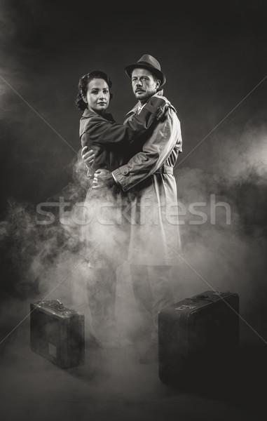 Film noir romantic scene Stock photo © stokkete