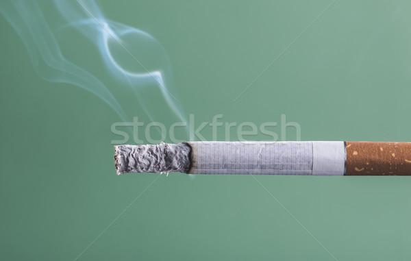 Foto stock: Cigarro · ardente · fumar · verde · morte
