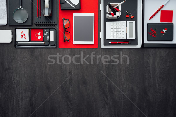 Flat lay business desktop Stock photo © stokkete