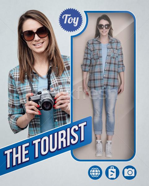 Turystycznych realistyczny lalek kobiet zabawki zobaczyć Zdjęcia stock © stokkete