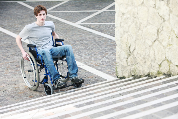 Wheelchair Inaccessable Stairs Stock photo © stokkete