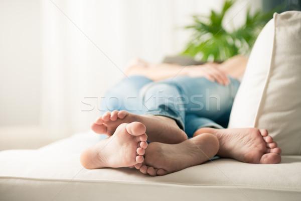 Сток-фото: любящий · пару · ног · молодые · лесбиянок
