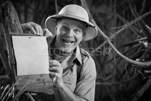 Cheerful explorer Stock photo © stokkete