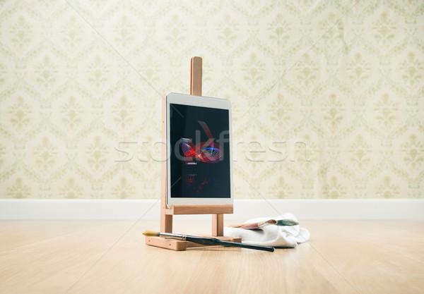 Creativity on tablet Stock photo © stokkete