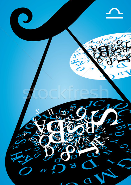 zodiac sign - libra  Stock photo © stokkete