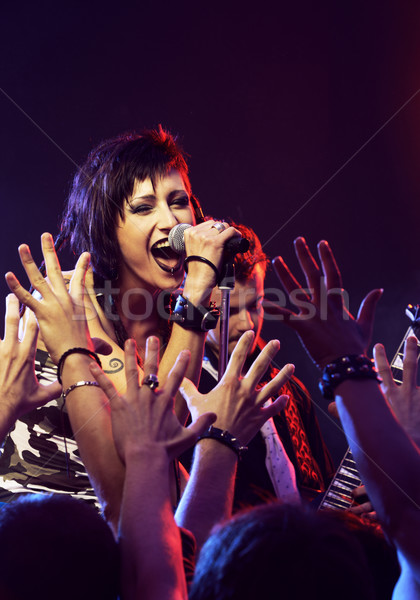 Rock concerto rock band vivere cantante cantare Foto d'archivio © stokkete