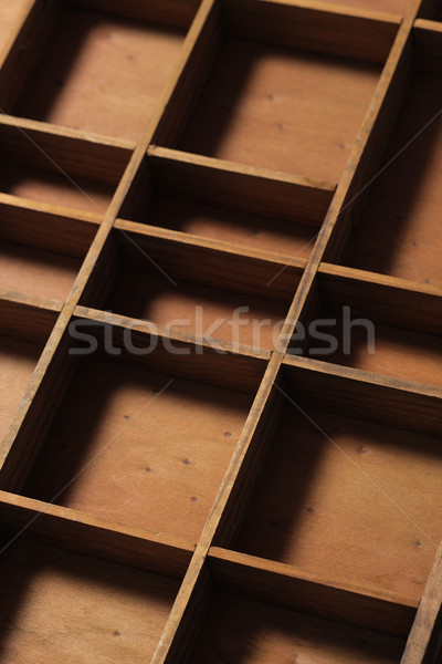 drawer wooden compartments empty Stock photo © stokkete