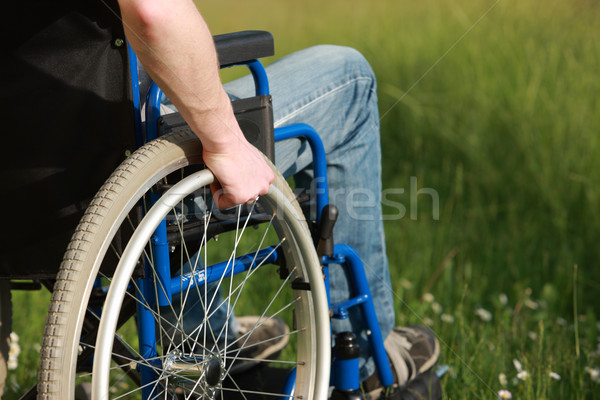 Man in a wheelchair Stock photo © stokkete