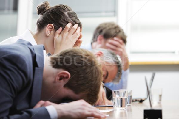 Nudny seminarium ludzi biznesu snem sala konferencyjna biuro Zdjęcia stock © stokkete