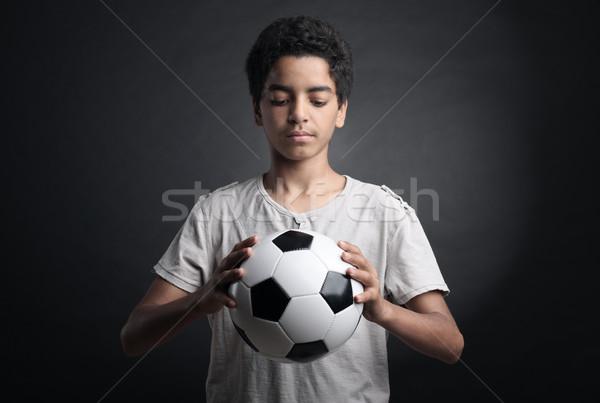 Adolescente calciatore ritratto soccer ball Foto d'archivio © stokkete