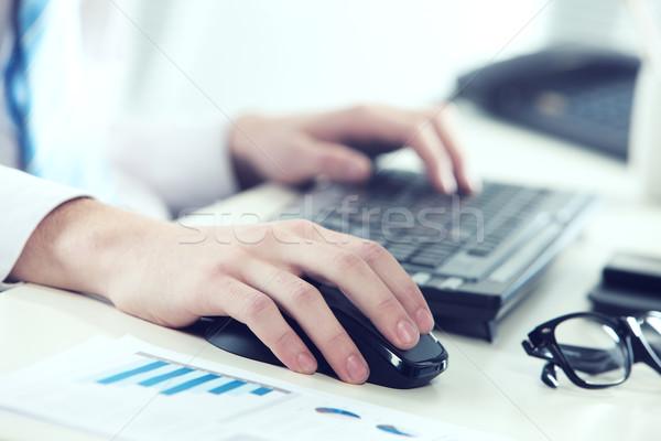Stockfoto: Werken · kantoor · shot · jonge · zakenman