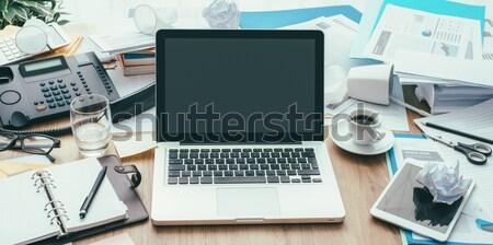 бизнеса workspace грязный работу Desktop служба Сток-фото © stokkete