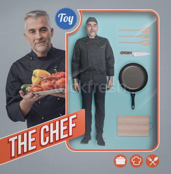 Chef bambola realistico umani accessori giocattolo Foto d'archivio © stokkete