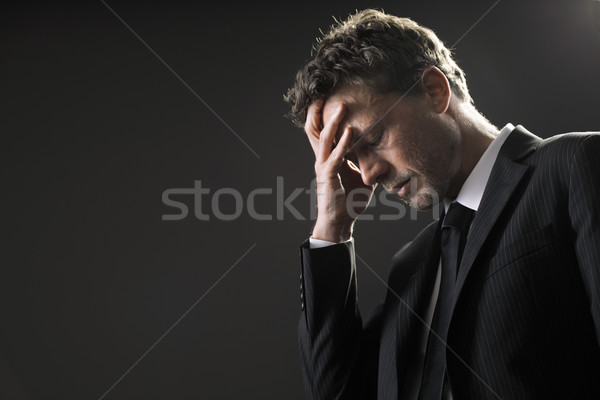 üzlet probléma érett üzletember hangsúlyos aggódó Stock fotó © stokkete