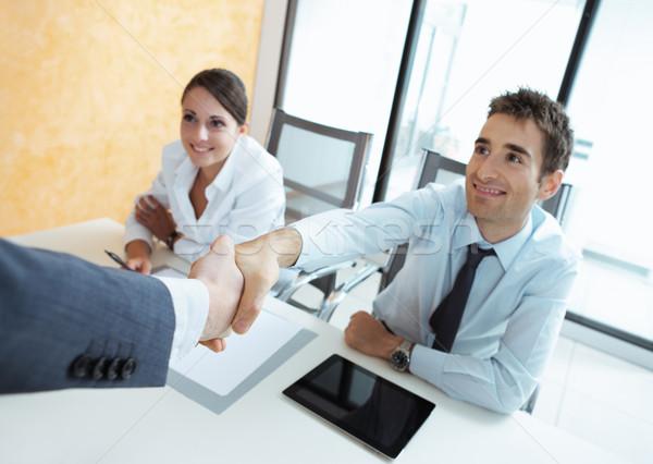 Bienvenue équipe affaires société nouvelle collègues Photo stock © stokkete