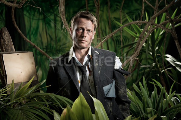 Business jungle survivor Stock photo © stokkete