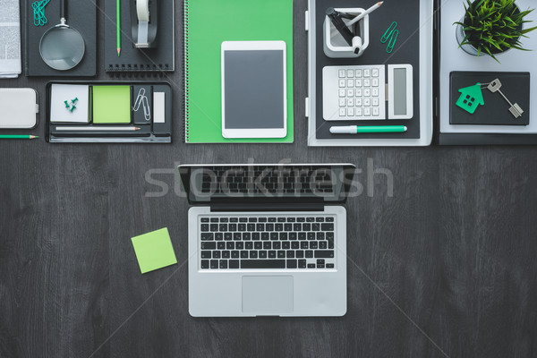 Business desktop corporate ufficio accessori laptop Foto d'archivio © stokkete
