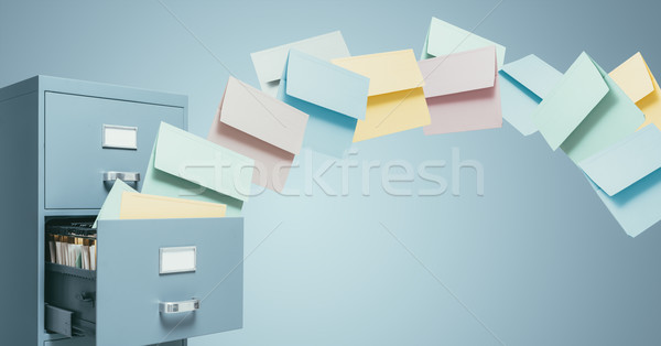 Fast file transfer management Stock photo © stokkete