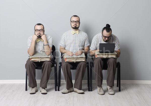 Entrevista de emprego imagem três homens espera entrevista Foto stock © stokkete