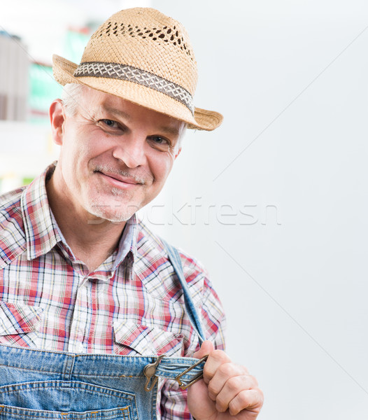 Smiling farmer Stock photo © stokkete