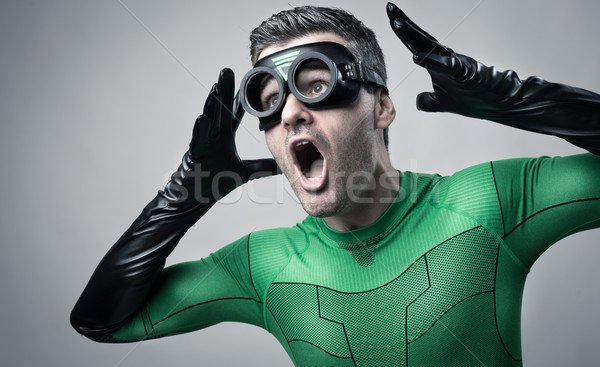 Cool superhero shouting out loud Stock photo © stokkete