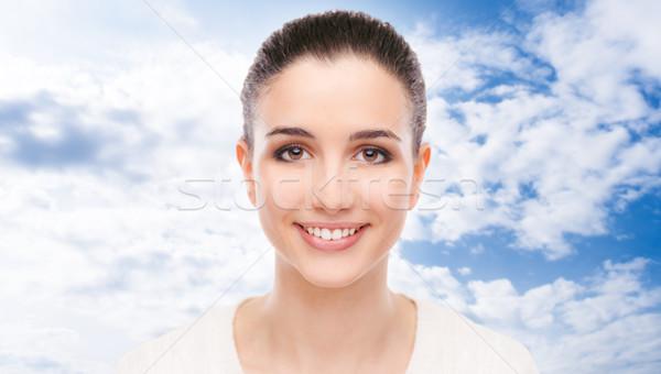 Sorridere bella donna fresche faccia pelle Foto d'archivio © stokkete