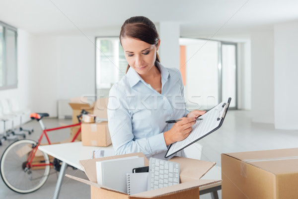 Office relocation checklist Stock photo © stokkete
