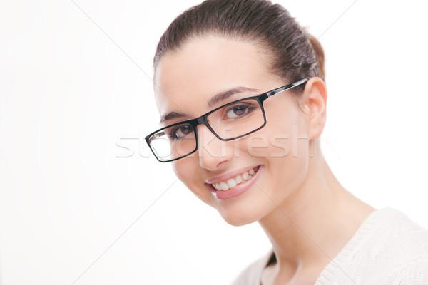 Giovani bella donna indossare occhiali bella Foto d'archivio © stokkete