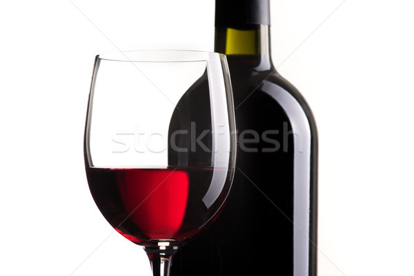 Vörösbor kóstolás kitűnő borosüveg borospohár fehér Stock fotó © stokkete