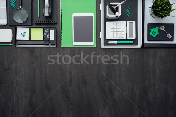 Iş masaüstü kurumsal ofis tablet Stok fotoğraf © stokkete