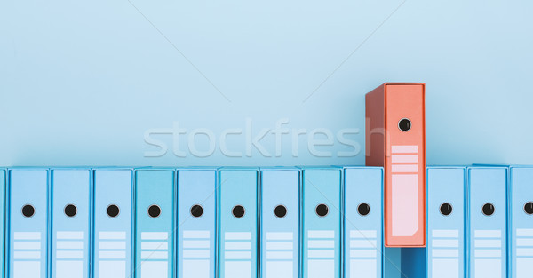 Organized archive with ring binders Stock photo © stokkete