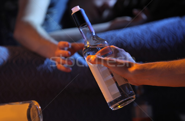 Teen alcohol addiction concept Stock photo © stokkete