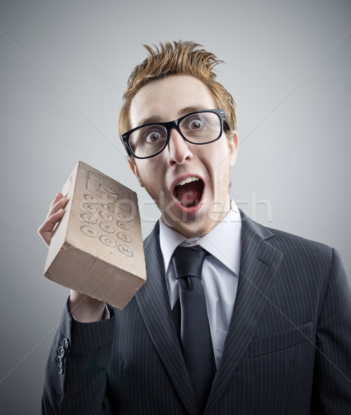 Nerd businessman Stock photo © stokkete