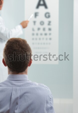 Zdjęcia stock: Wizji · test · okulista · pacjenta · lekarza · wskazując