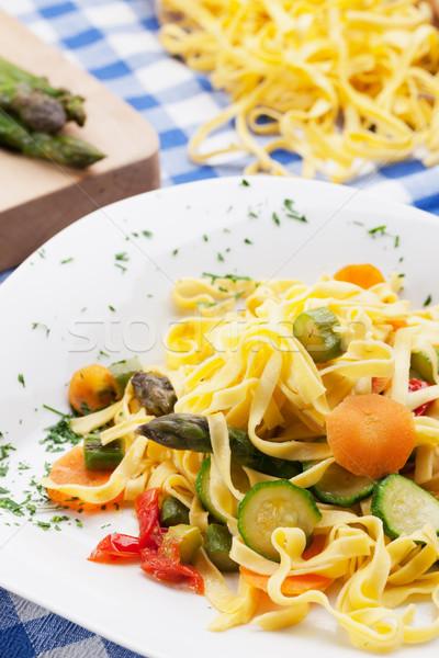 タリアテーレ 野菜 伝統的な 夏 テーブルクロス ストックフォト © stokkete